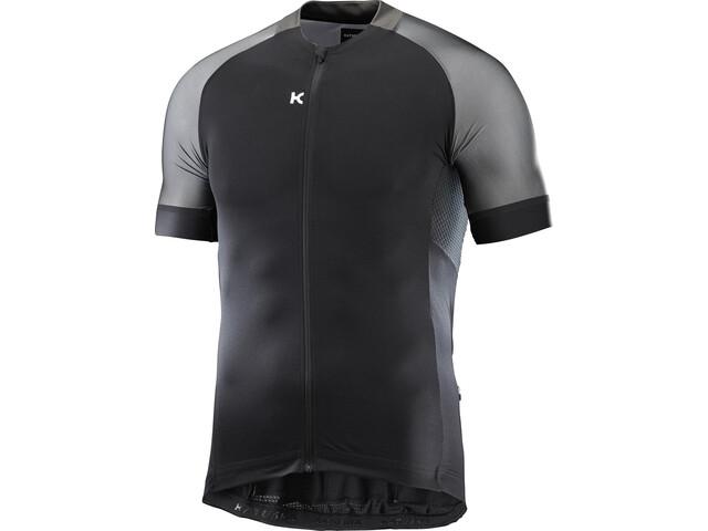 KATUSHA Icon Fietsshirt korte mouwen Heren grijs/zwart